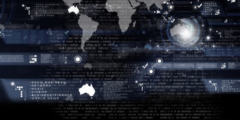Digital graph background