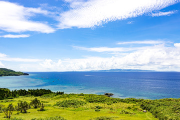 Sea, coast, landscape. Okinawa, Japan, Asia.