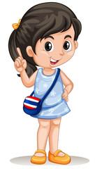 Thai girl with handbag