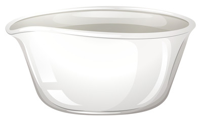 Mortar bowl on white