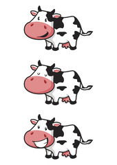Happy Cow Cartoon Vector Illustration