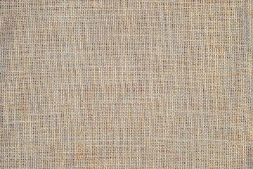 burlap or linen fabric as background