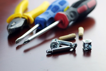 pliers screwdriver screws
