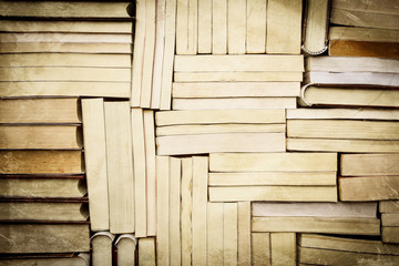 image of a stack of paperback books, vintage style