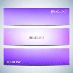 Set of horizontal multicolored backgrounds for your design