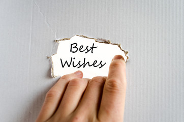 Best wishes text concept