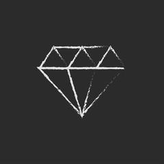 Diamond icon drawn in chalk.