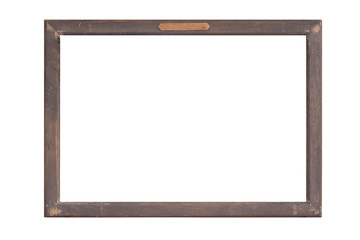 wood frame isolated on white background.