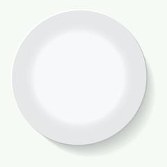 Empty white plate. Illustration on white background
