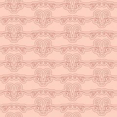 Seamless pattern of elegant flourishes