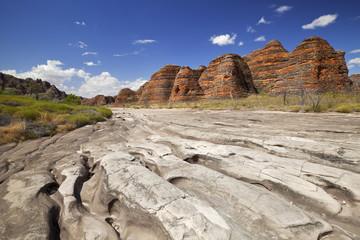Dry riverbed in Purnululu National Park, Western Australia