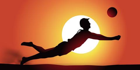 Beach Volley - couché de soleil
