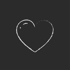 Heart icon drawn in chalk.