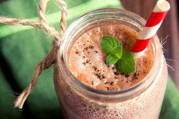Chocolate smoothie (milkshake)