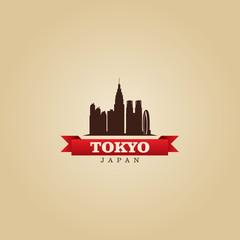 Tokyo Japan city symbol vector illustration