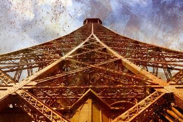 Eiffel Tower - grunge style image