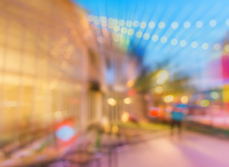 Defocused night street abstract texture.