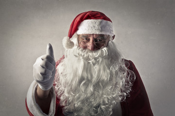 Santa Claus with thumbs up