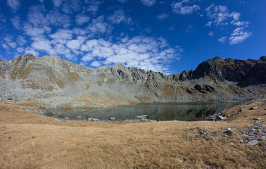 Lake Oberseitsee 2.576m At Mt. Seespitze 3.021m in St. Jakob In Defereggental In East Tyrol Austria