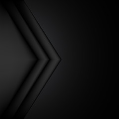 abstract black and white vector background with space for text
