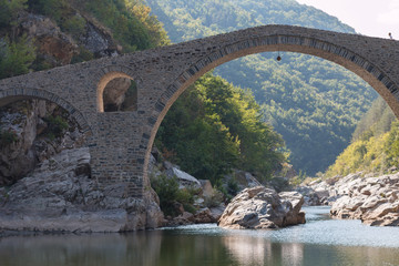 The Devil's Bridge near Ardino, Bulgaria