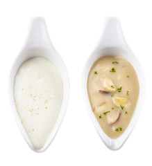 Various sauces isolated
