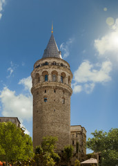 Galata Tower in Istanbul Turkey