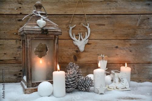 weihnachtskarte rustikale laterne wei e dekoration stockfotos und lizenzfreie bilder auf. Black Bedroom Furniture Sets. Home Design Ideas