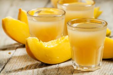 Mango juice, selective focus