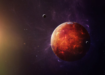 Wall Mural - The Mars from space showing all they beauty. Extremely detailed