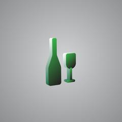 Wine Green 3d  illustration