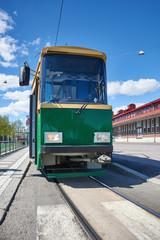 Tram in Helsinki on a summer day
