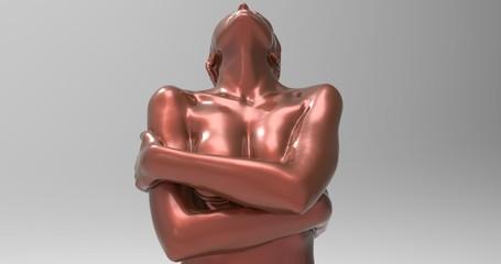 3d female mannequin, colorful model body shape, fashion illustration