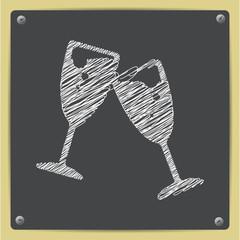 Vector chalk drawn sketch oficon