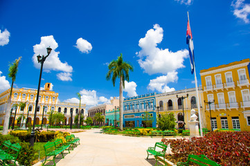 SANCTI SPIRITUS, CUBA - SEPTEMBER 5, 2015: Latin for Holy Spirit. It is one of the oldest Cuban European settlements.