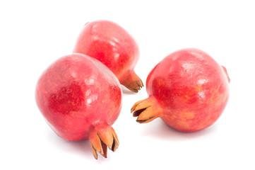 Pomegranates isolated