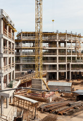 Modern factory construction site