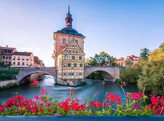 Bamberg Altes Rathaus, vom Geyerswörthsteg aus fotografiert