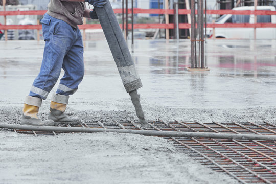 Baustelle, Fundament, Sohlplatte aufbau