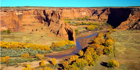 Canyon de Chelly National Monument on Navajo tribal lands in autumn