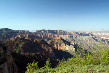Grand Canyon National Park seen from Point Royal on the North Rim
