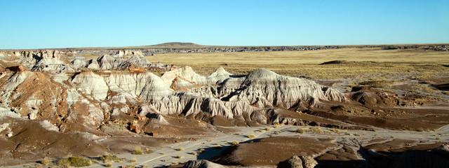 Panorama of Painted Desert National Monument in northeastern Arizona