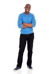 afro american man standing on white