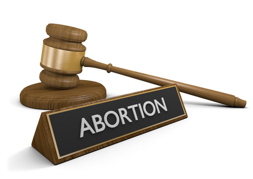 Women's rights and abortion laws legal concept