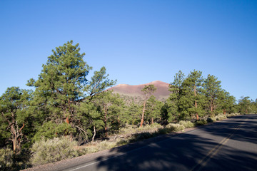 Road through Sunset Crater National Monument near Flagstaff, Arizona