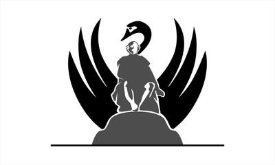 black swan and cute logo