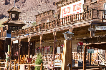 Main street buildings in Calico Ghost Town, owned by San Bernardino County, California