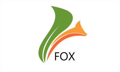 leaf and cute fox