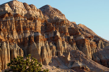 Eroded rock walls in Red Rock Canyon State Park in California's Mojave Desert
