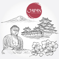 illustration of Japan